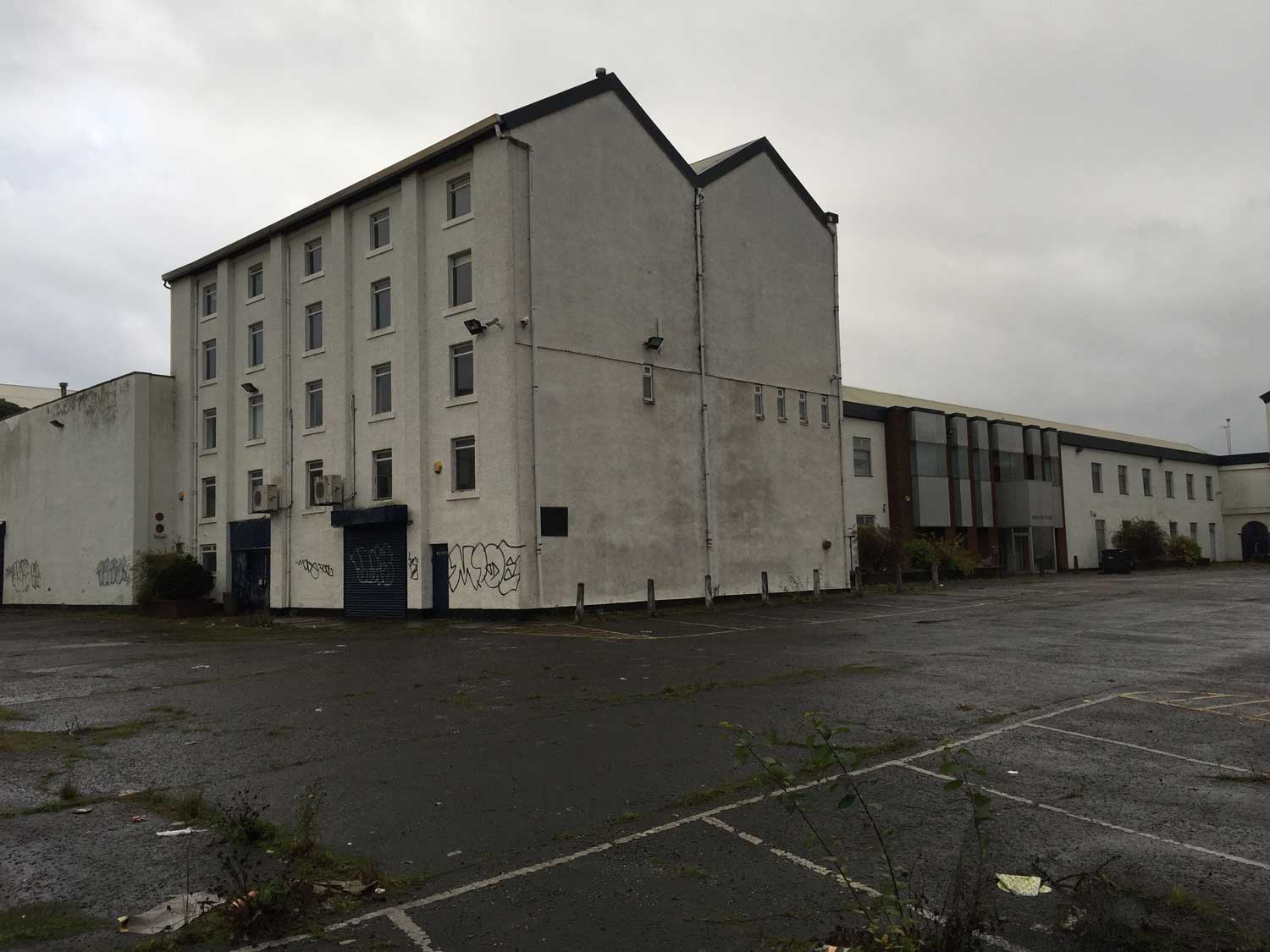 The warehouse at MacDowall street had been vacant for years and looked derelict