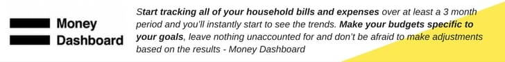 Money dashboard quote