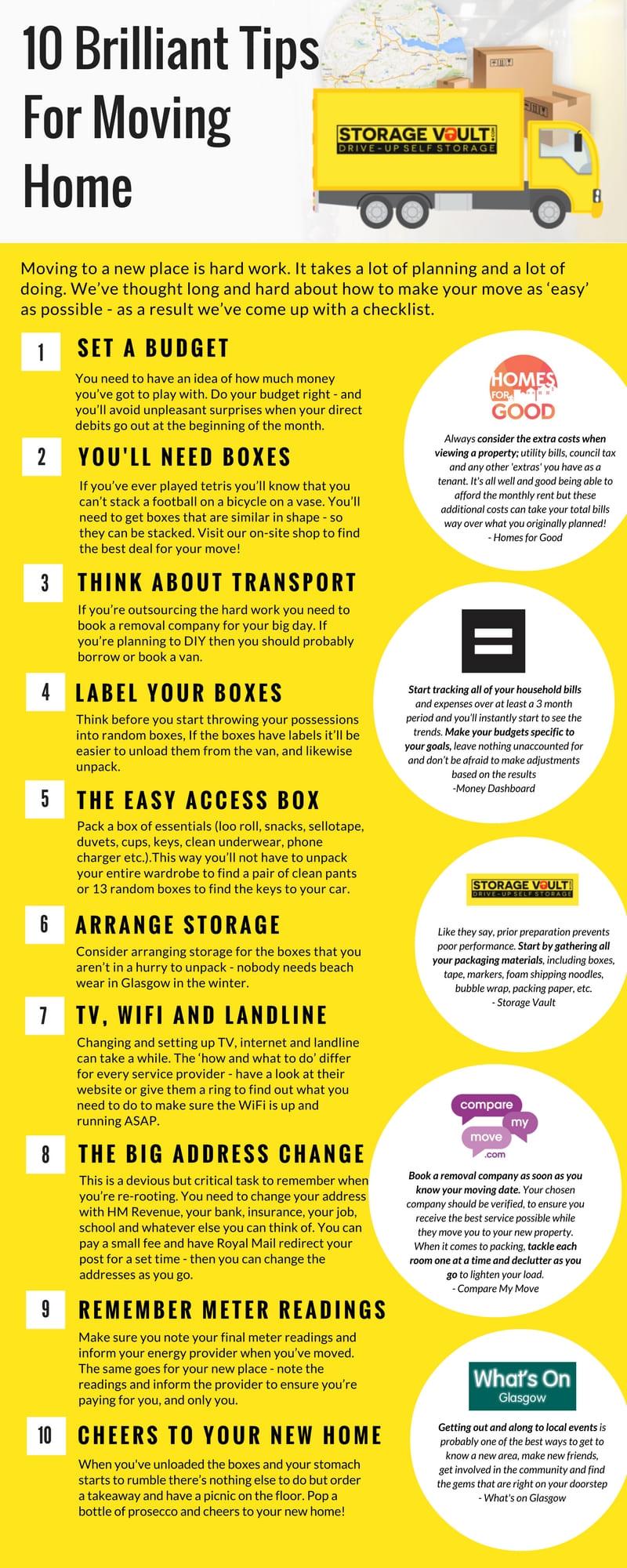 10 tips storage vault infographic