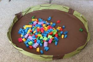 activity mat toy storage