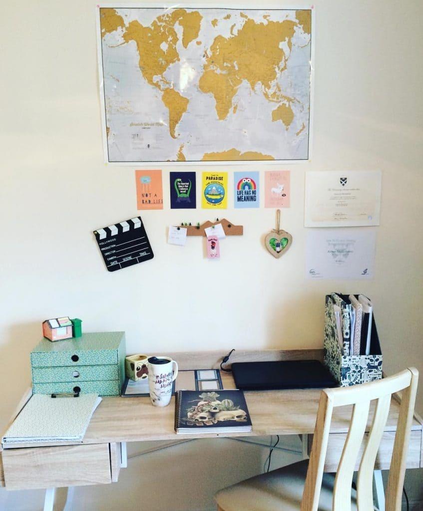 my organised desk