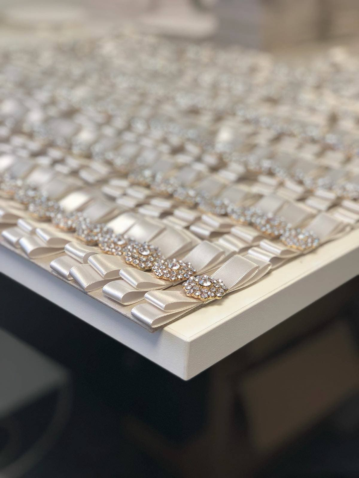 Wedding Business Dollybird Stationery Are Living The Dream At Storage Vault Work Space - rows and rows of glittering bows