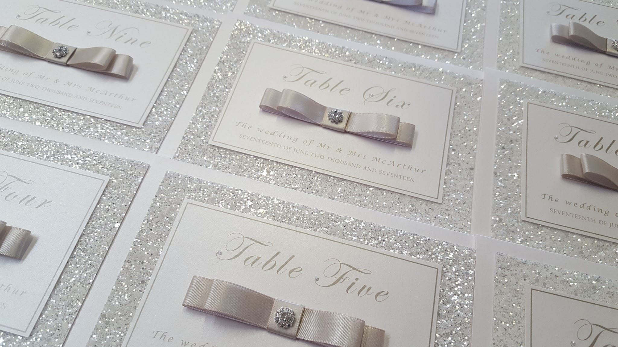 Wedding Business Dollybird Stationery Are Living The Dream - sparkly wedding invitations
