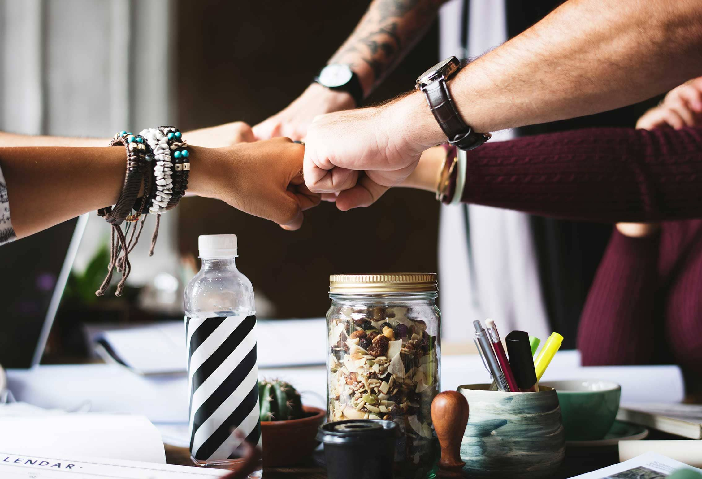 How to choose the right office space for your small business fist bump