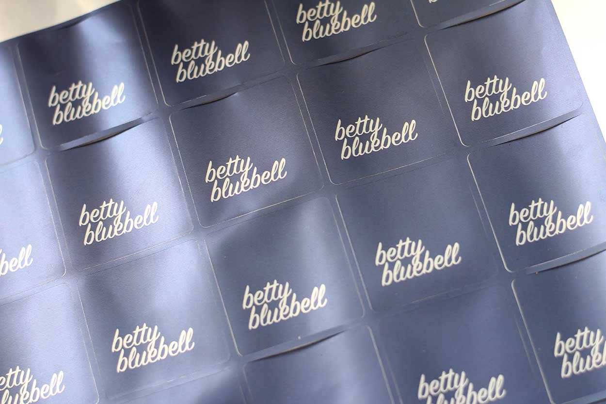 Successful Business Betty Bluebell - beautiful, navy branded labels