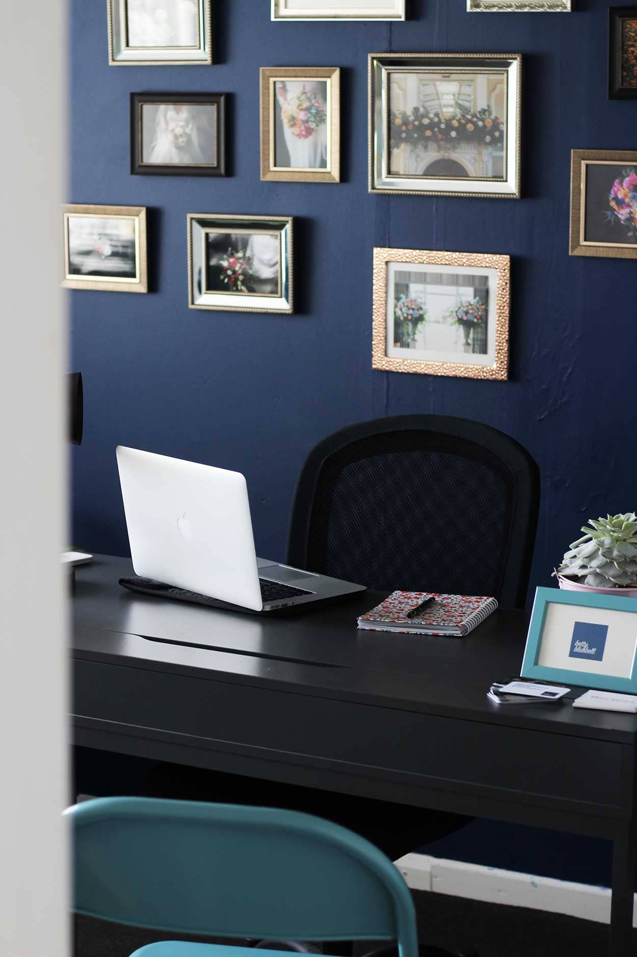 Successful Business Betty Bluebell - Emma's work space at Storage Vault Cambuslang.