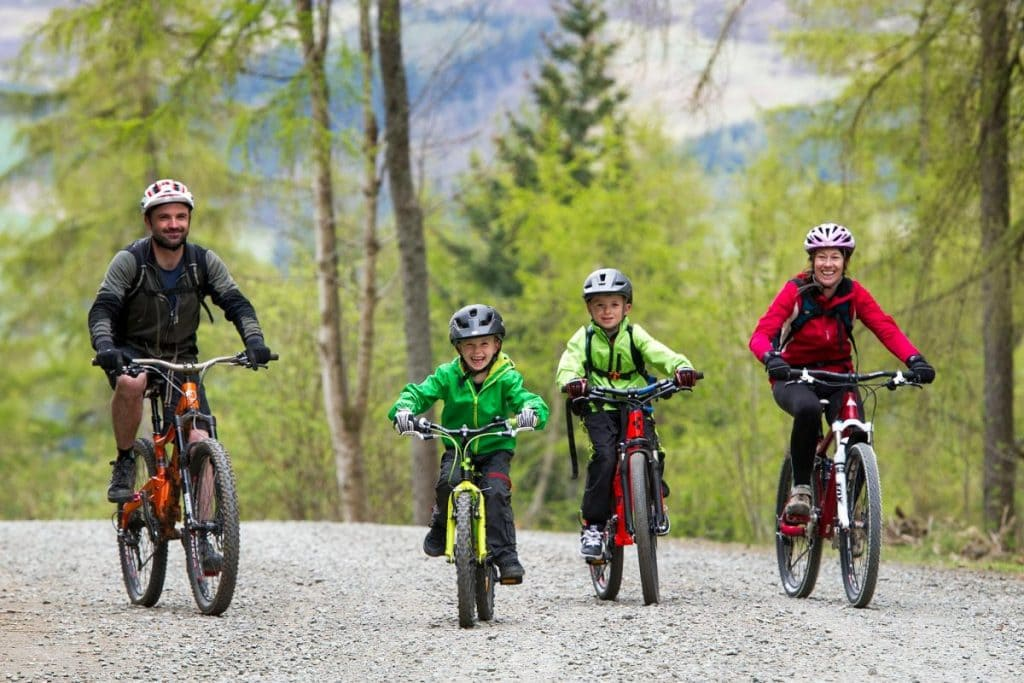 camping scotland 7stanes family bike