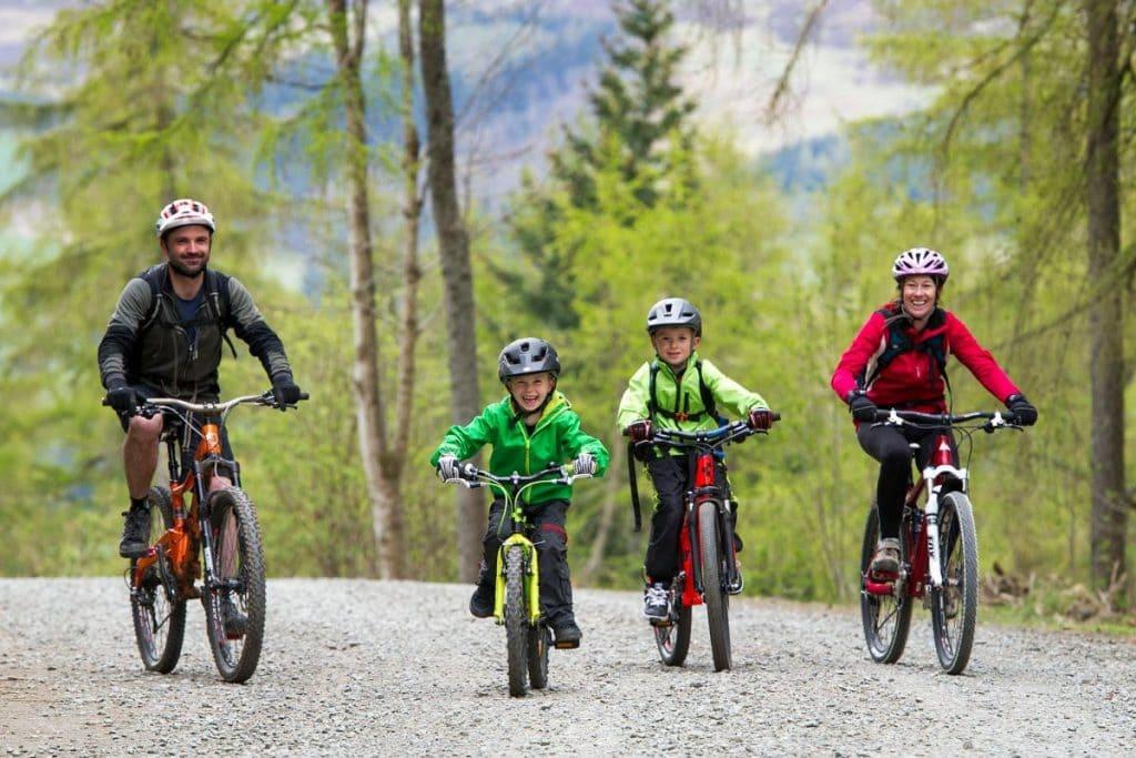 camping scotland 7stanes family bike