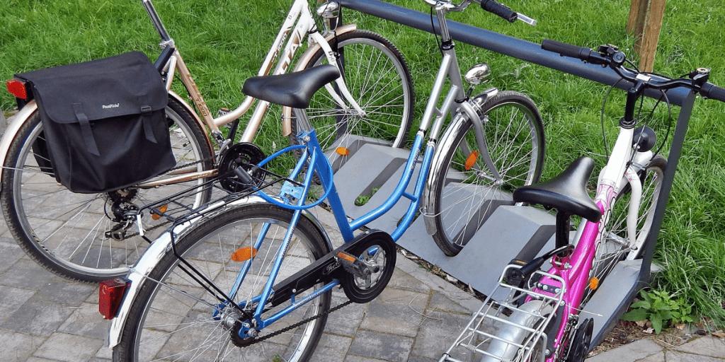 Bike rack outdoors