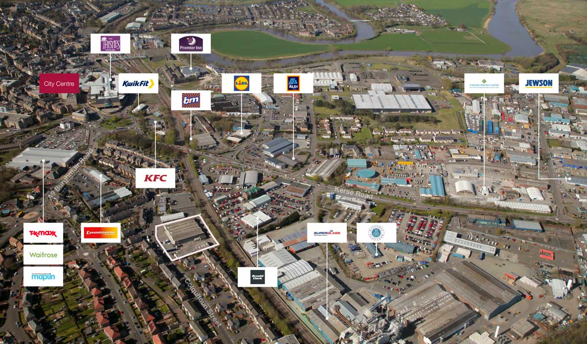 Storage Vault have purchased a central site in Stirling - the surrounding area is a mix of residential and commercial