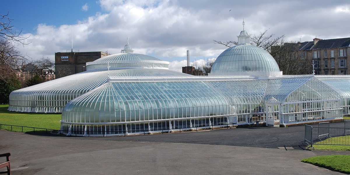 The Kibble Palace in Glasgow Botanic Gardens